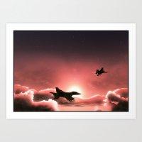 Fly Navy Art Print
