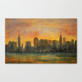 Midtown Morning Canvas Print