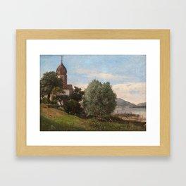 HJALMAR MUNSTERHJELM, VIEW FROM THE ALPS. Framed Art Print