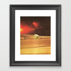 wheat squared Framed Art Print