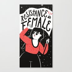 Resistance is Female Canvas Print