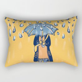 Rainy day girl Rectangular Pillow