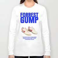 forrest gump Long Sleeve T-shirts featuring Forrest Gump Movie Poster by FunnyFaceArt