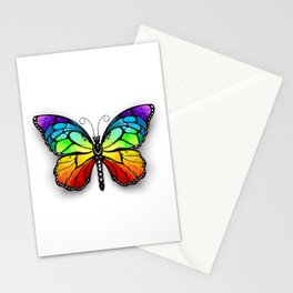 Rainbow Monarch Butterfly Stationery Cards