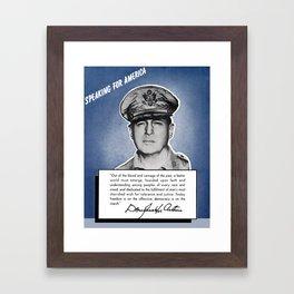 General MacArthur -- Speaking For America Framed Art Print