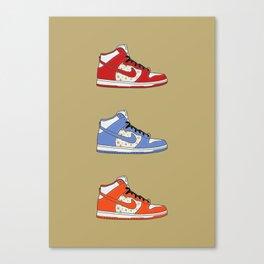 SB Dunk High - Supreme Canvas Print