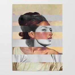 Delacroix's Orphan Girl at the Cemetery & Sophia Loren Poster