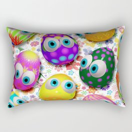 Cute Easter Eggs Cartoon 3d Pattern Rectangular Pillow