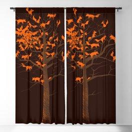 Blazing Fox Tree II Blackout Curtain