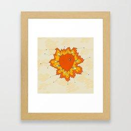 Hearts Afire Framed Art Print