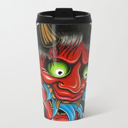 Hannya Mask Metal Travel Mug