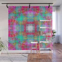 EMBROIDERED ASIAN FABRIC FANTASY COLLAGE Wall Mural
