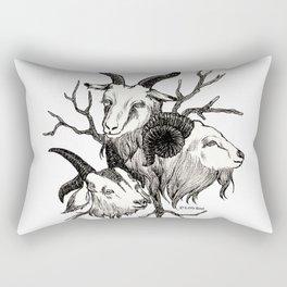 goats Rectangular Pillow