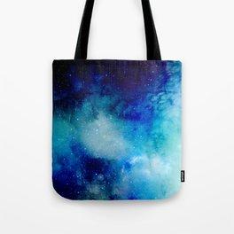 Blue Watercolor Space Pattern Tote Bag
