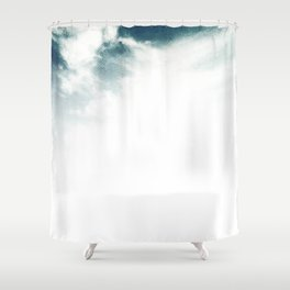 Halftone Clouds Shower Curtain