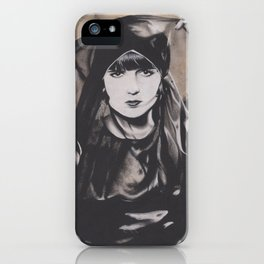 Original Charcoal Drawing of Louise Brooks iPhone Case