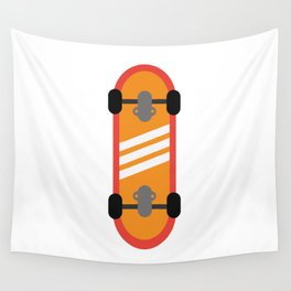 Orange Skateboard Wall Tapestry