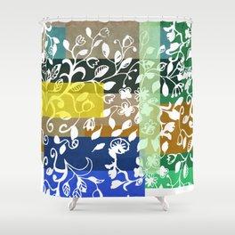 Unconventional lace Shower Curtain