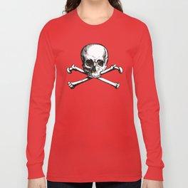 Skull and Crossbones   Jolly Roger Long Sleeve T-shirt