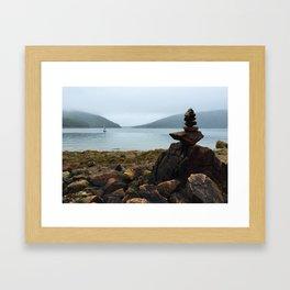 Acadia Cairn Framed Art Print