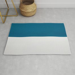 Blue over White Rug