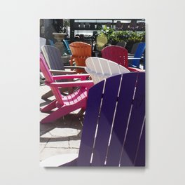 Colorful Seats Metal Print