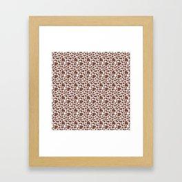 Cow Animal Print Pattern Framed Art Print