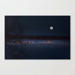 New Year's Ice Fishing Canvas Print