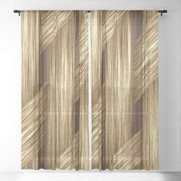 Basket Weave Sheer Curtain