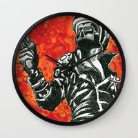 mad max Wall Clocks featuring Mad Max  by Abominable Ink by Fazooli