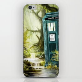 Doctor Who - Tardis in the Woods II iPhone Skin