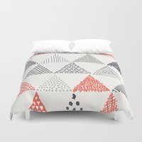 triangle Duvet Covers featuring Triangle by samedia