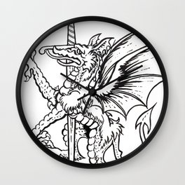 Logres Dragon Wall Clock