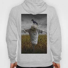 Scarecrow with Black Crows over a Cornfield Hoody