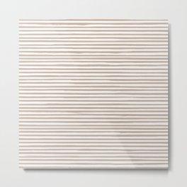 Skinny Stroke Horizontal Nude on Off White Metal Print