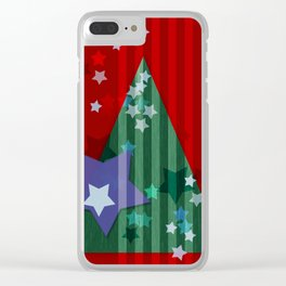 stars and stripes - christmas edition Clear iPhone Case