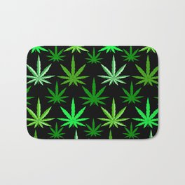Marijuana Green Weed Bath Mat