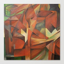 Foxes - Homage to Franz Marc (1913) Canvas Print