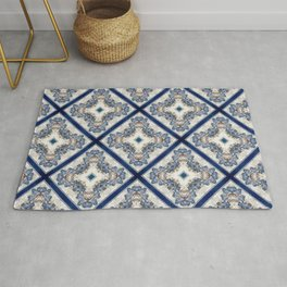 A Pattern of Blue Birds Rug