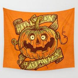 Halloween orange Wall Tapestry