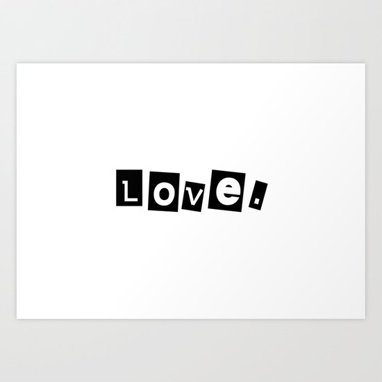 Love paperstyle Art Print