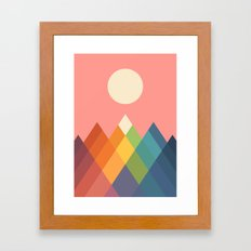 Rainbow Peak Framed Art Print