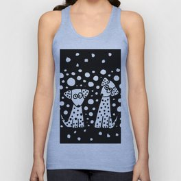 Funny Dalmatian Spotted Dogs Abstract Artwork Unisex Tank Top