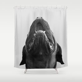 THE DOGUE monochrome Shower Curtain
