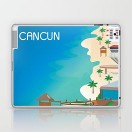 Cancun, Mexico - Skyline Illustration by Loose Petals Laptop & iPad Skin