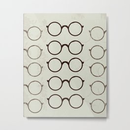 (Glasses) Metal Print