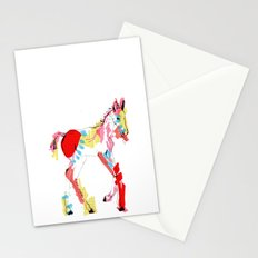 Baby horse colour Stationery Cards