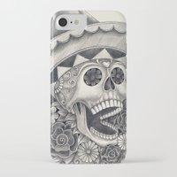 dia de los muertos iPhone & iPod Cases featuring Dia de Los Muertos by afzucatti