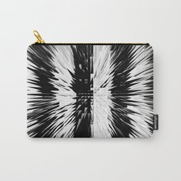 169 - Black and white spikey stripes Carry-All Pouch