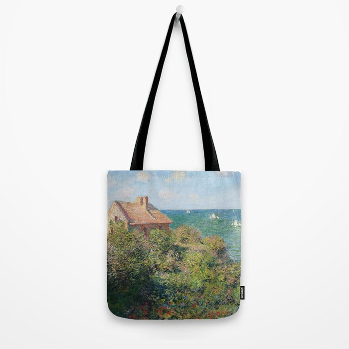 Fisherman's Cottage at Varengeville by Claude Monet Tote Bag